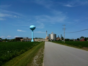 Why do they make water towers sky blue?  Isn't that like camouflage to planes?
