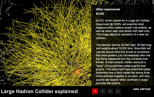 Windows 95 Screensaver and Hadron collide